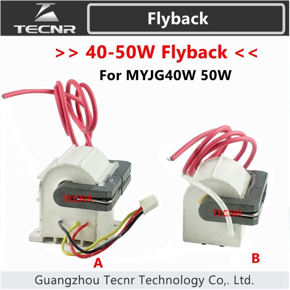 TECNR 40W 50W High Voltage Flyback Transformer  For 50W CO2 Laser Power Supply MYJG40W 50W