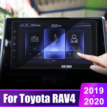 10.1 Inch For Toyota RAV4 2019 2020 Tempered Glass Car DVD GPS Navigation Screen Protector Display Film LCD Protective Sticker skylarpu 7 2 inch lcd lte072t 050 2 lte072t 050 lte072t lcd display screen panel module for car dvd gps navigation system