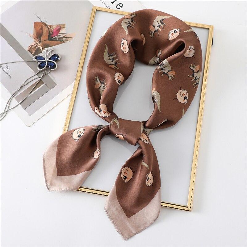 Womens Fashion Handkerchiefs Pink Pigs Square Silk Party Handkerchiefs