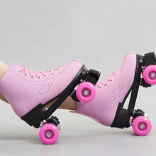 Skating-Shoes Roller-Skates Quad-Sneakers 4-Wheels Outdoor Girls Adult Kids Women Row-Line