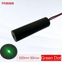 Alta estabilidade 520nm 30mw green dot módulo laser lançador de noite caça visando a laser cabeça fonte de sinal óptico de grau industrial