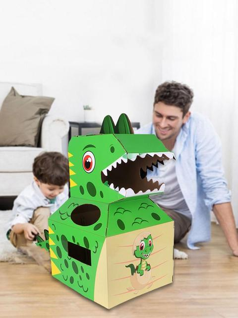Baby Toys Dinosaur Carton Can Wear Paper Skin Handmade DIY Model Creative Birthday Gift Children's Toys 6