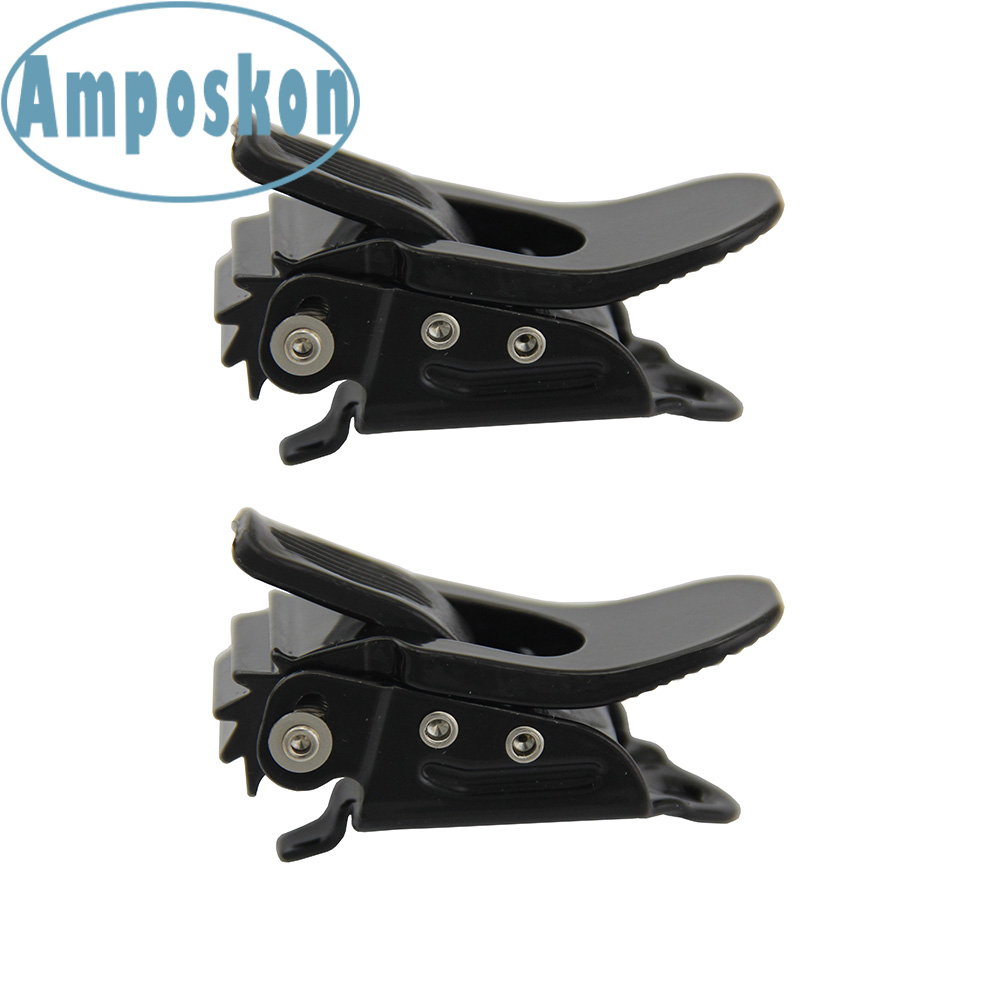 2 PCS New Hot Snowboard Strap-In Binding Parts Straps Black Ratchet Hardware Buckle With Metal Base 24mm Width Ski Accessories