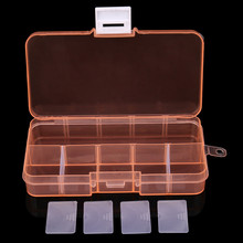 Organizer Organizador De Maquillaje Jewelry Box Plastic 10 Slots Adjustable Jewelry Storage Box Case Craft Organizer Bead #37