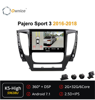 Ownice 6Core Android 7.1 360 Panorama Car DVD GPS navigation Radio forMitsubishi Pajero Sport 3 2016 2017 2018 DSP 4G SPDIF image