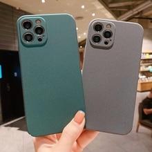 Astubia Luxe Matte Harde Pc Case Voor Iphone 12 11 Pro Max Mini X Xr Xs 8 7 Plus Se 2020 Eenvoudige Ultra Dunne Back Cover Capa