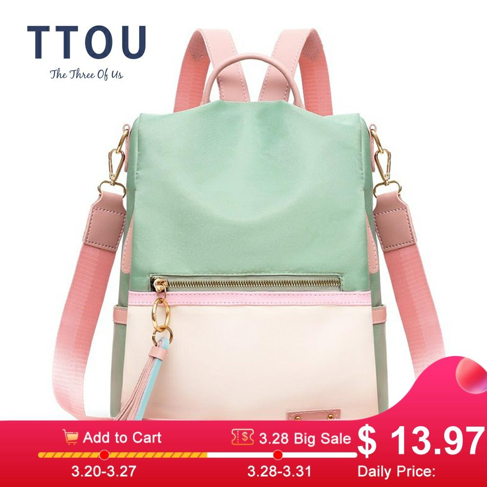 Fashion Lady Bag Anti-theft Women Backpack Hight Quality Candy Color Backpacks Female Large Capacity Women's Shoulder Bags