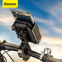 Baseus Motorcycle Bicycle Phone Holder 360° Rotation Alloy Moto Bike Stand Mount For Iphone 11 Max Samsung 4.7 6.5 Inch Phones
