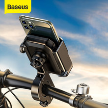 Baseus-Soporte de teléfono para motocicleta, base de aleación con rotación de 360 ° para teléfonos Iphone 11 Max y Samsung de 4,7-6,5 pulgadas