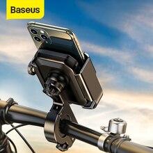 Baseus motocicleta bicicleta titular do telefone 360 ° rotação liga moto bicicleta suporte de montagem para iphone 11 max samsung 4.7 6.5 polegadas telefones