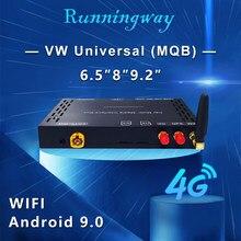 Runningway android 9.0 carro multimídia player 4g/wifi caixa de atualização para vw volkswagen golf 6 7 tiguan l passat b7 b8 cc seat skoda