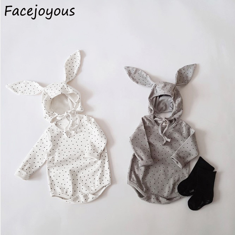 Infant Bodysuit Newborn Baby Girl Clothes One Piece Little Star Jumpsuits With Hat Pure Cotton Bunny Baby Costume Homewear 0-24M
