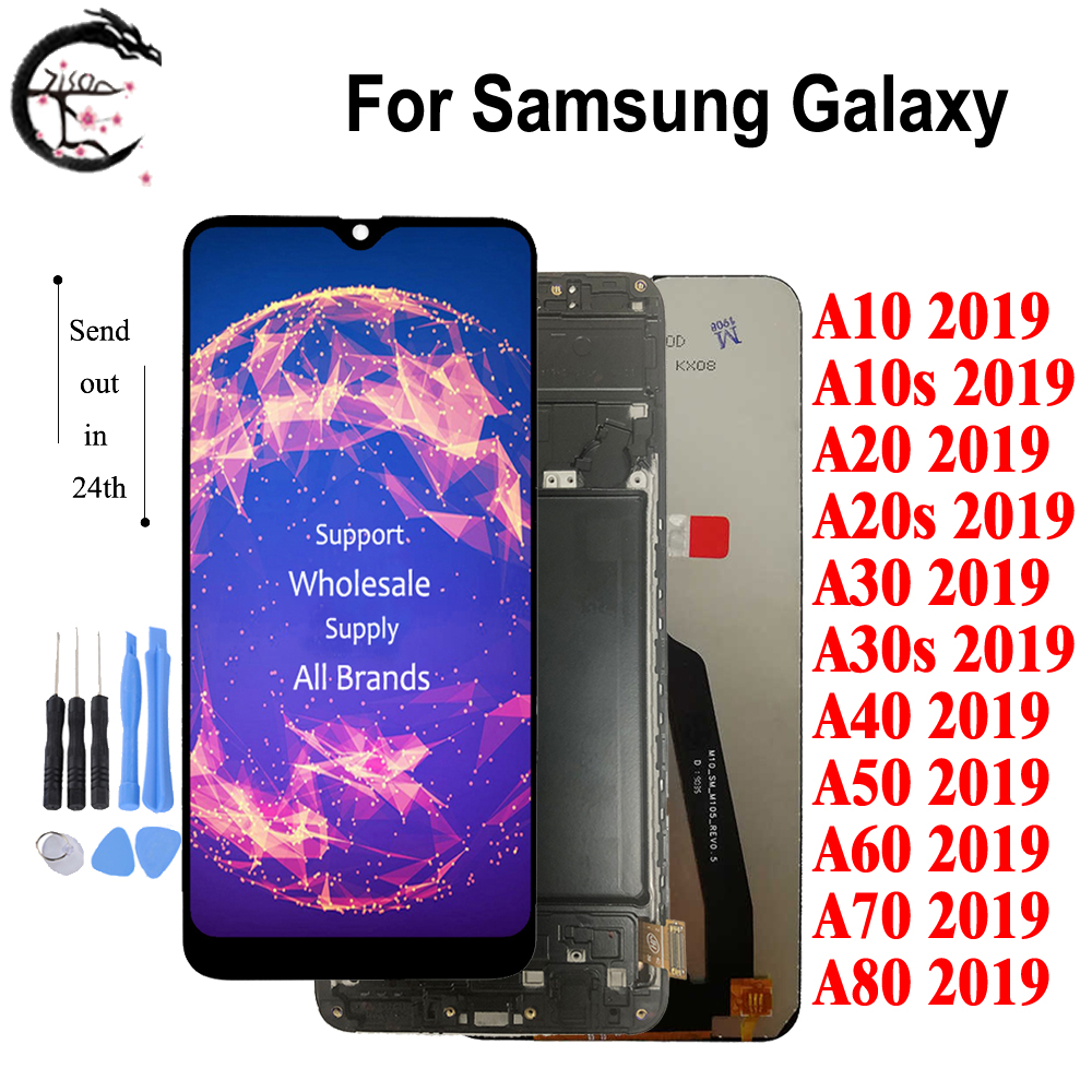 LCD For SAMSUNG Galaxy A80 A70 A60 A50 A40 A30 A20 A10 2019 Display + Frame A10s A20s A30s LCD Screen Touch Digitizer Assembly image