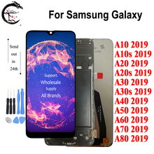 LCD For SAMSUNG Galaxy A80 A70 A60 A50 A40 A30 A20 A10 2019 Display + Frame A10s A20s A30s LCD Screen Touch Digitizer Assembly
