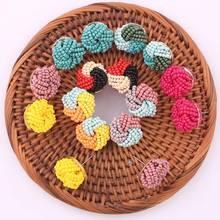 Bohemian Handmade Crystal Beads Stud Oorbellen Voor Vrouwen Round Statement Colorful Fashion Earrings Ladies Accessories Gifts