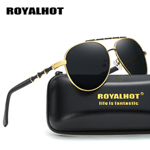 RoyalHot Men Women Retro Polarized Alloy Fashion Oval Frame Sunglasses  Driving Sun Glasses Shades Oculos masculino Male 900141
