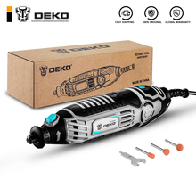 DEKO DKRT200J01 220V Variable Speed Electric Drill Mini Grinder Rotary Tool for Grinding, Cutting, Wood Carving, Sanding