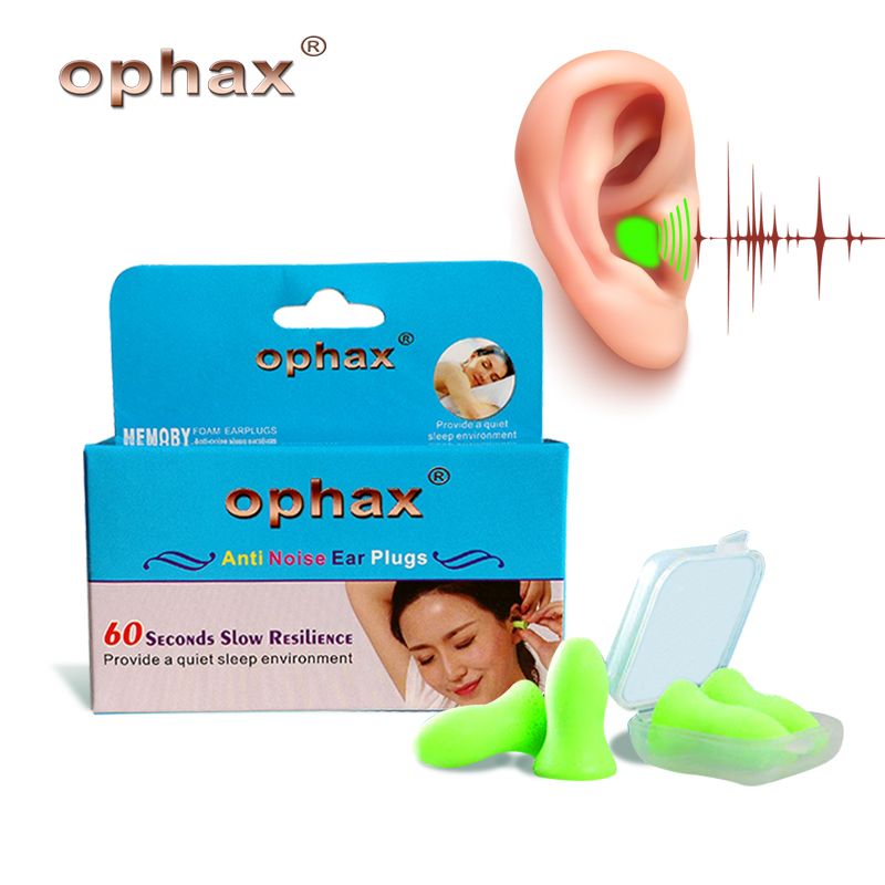 OPHAX 4pcs Upgraded Version Soft Foam Ear Plugs Anti Noise Snoring Earplugs For Sleeping Traveling Sleep Aid Noise Reduction