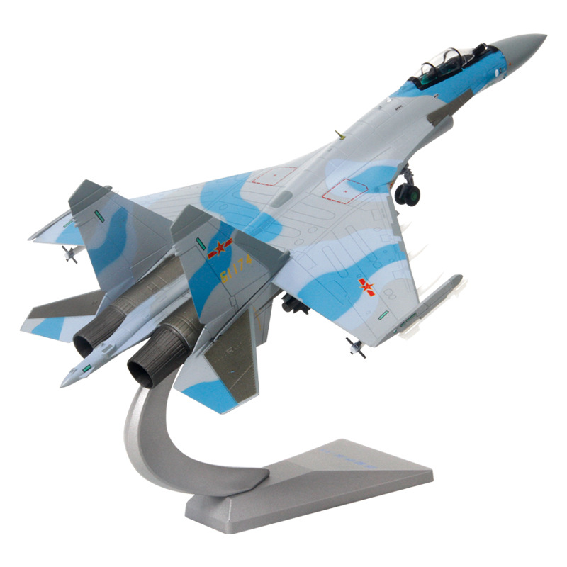 Toy Model Painting 1:72 Su 35 Aircraft Model Simulation Alloy Military Model SU35 Fighter Model Collection
