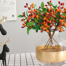 1 PC 35cm Artifical Berries Branch Fake Green Leaves Plant Wedding Home Decorations