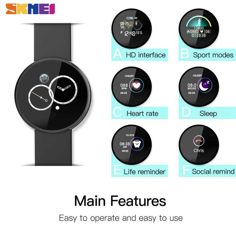 Skmei esporte senhoras dos homens relógios bluetooth monitor de sono à prova dwristwatch água relógio pulso para huawei xiaomi gps rastreador fitness reloj b36m