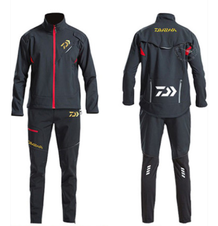 Daiwa Winter Fishing Suits Camping Men Cycling Windproof Keep Warm Outdoor Waterproof Fishing Jacket Thicken Sport Fishing Pants