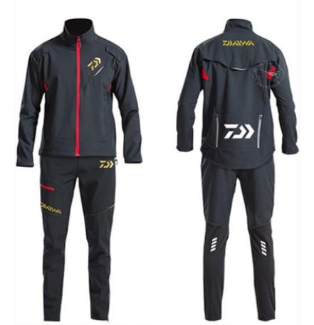 Daiwa Winter Fishing Suits Camping Men Cycling Windproof Keep Warm Outdoor Waterproof Fishing Jacket Thicken Sport Fishing Pants