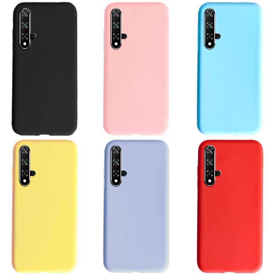 Case For Huawei Nova 5T Phone Case shockproof Candy Color Design TPU Silicone Soft Back Cases Cover for Huawei Nova 5 T Nova5T