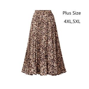 Image 2 - Wzór w cętki spódnice damskie 2020 nowa wiosna jesień w pasie linia plisowana spódnica trzy czwarte casualowe w stylu Streetwear