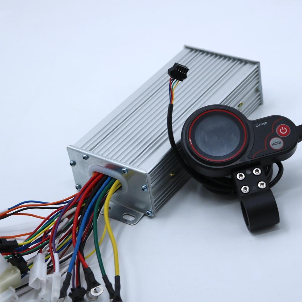 Greentime 48V 60V 1500W 45A Brushless DC Motor Controller Ebike Controller +LH- 100 Display One Set
