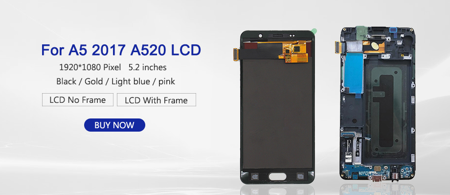 H95411275a2cf437696a396ae4d689513o 100% Test 5.2'' For SAMSUNG GALAXY A5 2017 A520 SM-A520F LCD Display Touch Screen Digitizer LCD A5 2017 Assembly LCD