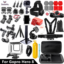 SnowHu for Gopro Hero 8 Black set 45M Underwater Waterproof Case Camera Diving Housing Mount for GoPro Accessory GS93