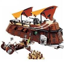 Новинка, Звездные войны, деревня эвоков, Звездные войны, 6210, Jabba, Парусная баржа, строительные блоки, игрушки, детские кирпичи, Legoinglys, Рождественская игрушка
