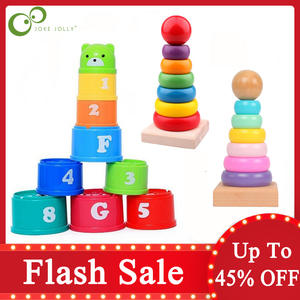 Toy Tower-Toys Stacking-Cup Christmas-Gift Intelligence Early-Educational Children Birthday
