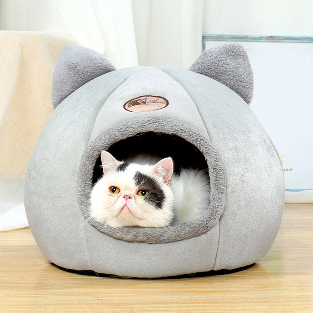 Casa do gato para produtos animais de estimação tenda aconchegante camas da caverna interior conforto do sono profundo na cesta da cama do gato do inverno