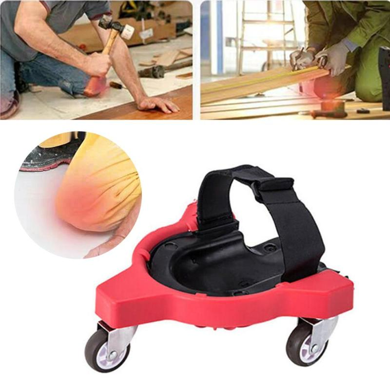 Plastic Workplace Rolling Kneepads Foam Padded Laying Tile Brush Wall Universal Wheel Knee Protection Pad Safety Accessories New