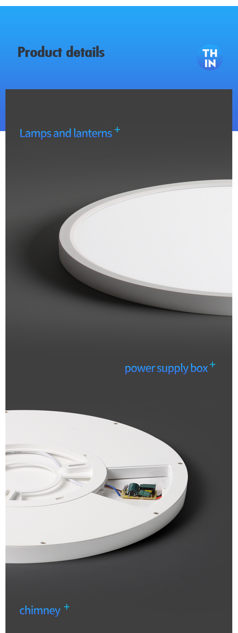 H95416e64ddd44efc9c868bf7087cebc5f Modern LED Ceiling Light 12W 18W 24W 32W 220V 5000K Kitchen Bedroom Bathroom Lamps Ultrathin Ceiling Lamp