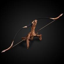 Arco de tiro con arco de madera hecho a mano, arco largo de caza tradicional de 30 50 libras, arco para juegos al aire libre
