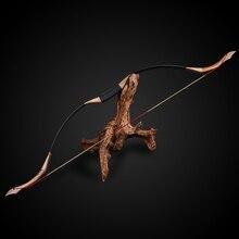 Tiro con larco in legno puro fatto a mano arco ricurvo 30 50lbs caccia tradizionale arco lungo giochi di tiro allaperto arco