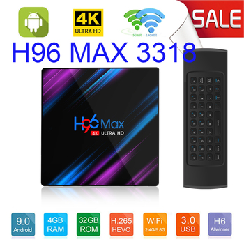 H96 Android 9.0 Smart TV Box H96 MAX 3318 4GB 64GB Rockchip RK3318 BT4.0 USB3.0 2.4G 5G WIFI 3D 4K HDR Media Player Android box h96 max smart tv box android 9 0 google voice assistant 4gb 64gb 3d 4k wifi bluetooth iptv subscription set top box media player