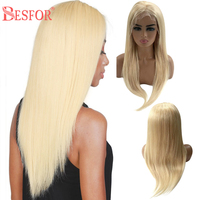 BESFOR Long Straight Body Wave 613 Blonde 13×6 Lace Front Human Hair Wigs Real Brazilian Virgin Frontal Lace Wig with Baby Hair