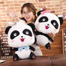 22/32/45cm kawaii bebê ônibus panda kawaii brinquedo de pelúcia animais de pelúcia boneca macia bonito dos desenhos animados almofada travesseiro presente para crianças
