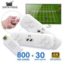 Los datos de la rana Mini portátil de Video juego de soporte de consola 2 jugadores soporte HD salida Retro palo de juego construido en 30 somatosensorial juegos