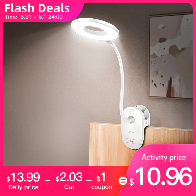 Flexo Table Lamp Led Desk Lamp Touch Clip Study Lamps Magnifier Gooseneck Desktop Usb Table Light Rechargeable 18650  Battery