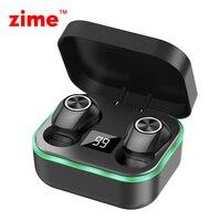 Zime Ohrhörer Wireless Sport Bluetooth kopfhörer surround atmen lampe Bass Touch control headset mit Led-anzeige mic
