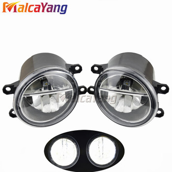 2PCS Super Bright LED Fog Head Lamp Left Right Front Fog Lights H8 H11 Socket Lamps For Toyota 4Runner 2010 2011 2012 2013 image