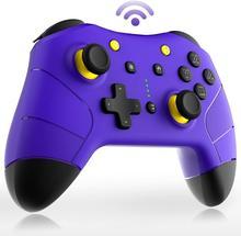 Controlador sem fio do interruptor pro, gamepad de bluetooth para nintendo switch/lite, mandos joystic do jogo de ns