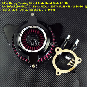 Image 5 - Motorcycle CNC Mid Chrome Circle Air Cleaner Intake Air Filter Fits For Harley Sportster XL Touring Dyna Softail Fat Boy FXSTB