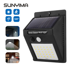 SUNYIMA Outdoor Solar Light Solar Wall Lamp Waterproof PIR Motion Sensor Garden Light Solar Powered Sunlight Street Light