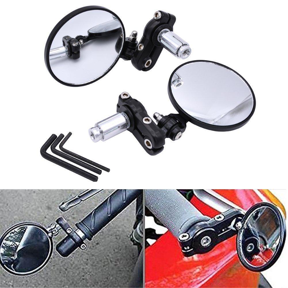 2 шт мотоцикла круговой складной зеркало заднего вида набор боковое выпуклое зеркало